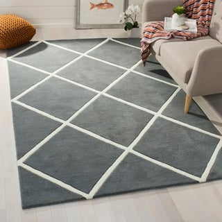 Safavieh Handmade Moroccan Dark Grey Wool Area Rug (4' x 6')