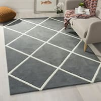 Safavieh Contemporary Handmade Moroccan Dark Grey Wool Rug - 7' Square