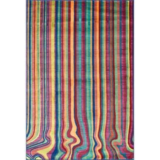 Skye Monet Multi Stripe Rug (5'2 x 7'7)