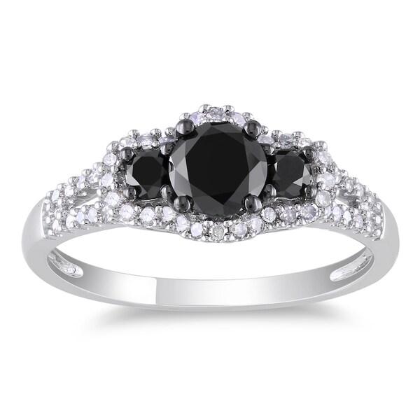 Miadora 14k Gold 1ct TDW Black and White Diamond Ring (G-H, I1-I2)