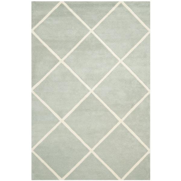 Safavieh Handmade Moroccan Gray Pure Wool Rug (6' x 9')