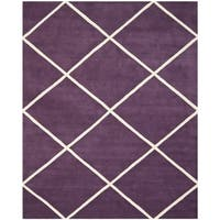 Safavieh Handmade Moroccan Purple Wool Rug with Geometric Design - 8' x 10'
