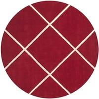Safavieh Handmade Moroccan Chatham Red Wool Rug - 7' Round