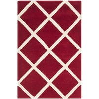 Safavieh Durable Handmade Moroccan Red Wool Rug - 2' X 3'