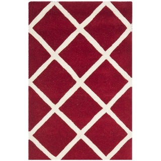 Safavieh Contemporary Handmade Moroccan Chatham Red Wool Rug (4' x 6')