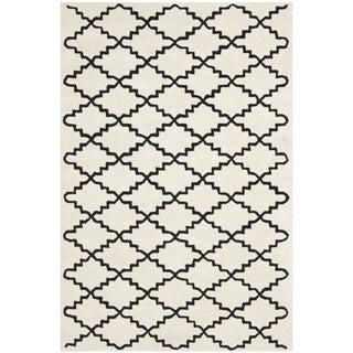 Safavieh Handmade Moroccan Ivory Cotton-Canvas Wool Rug (6' x 9')