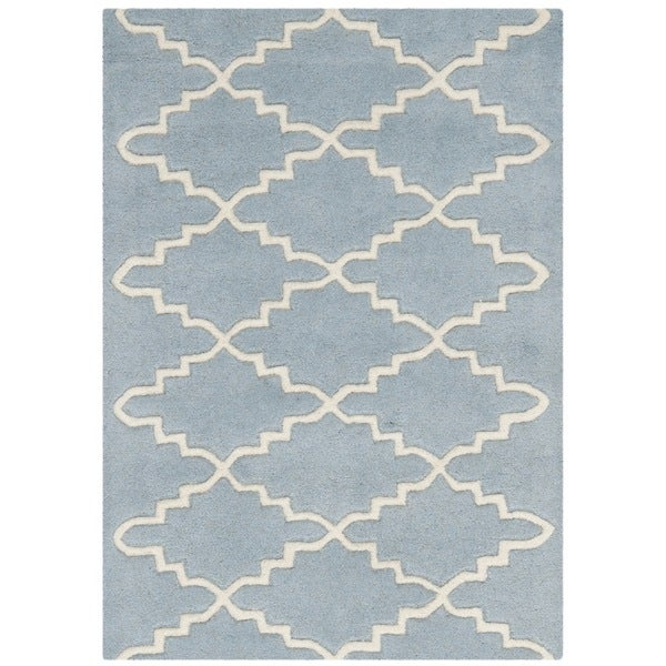 Safavieh Handmade Moroccan Blue Contemporary Wool Rug (2' x 3')