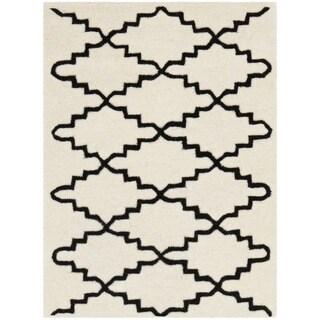 Modern Safavieh Handmade Moroccan Chatham Ivory Wool Rug (2' x 3')