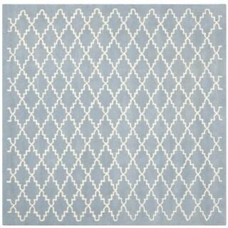 Safavieh Handmade Moroccan Chatham Blue Wool Rug (8'9 Square)