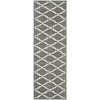 Safavieh Handmade Moroccan Chatham Dark Grey Wool Rug - 2'3 x 11'