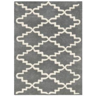 Safavieh Handmade Moroccan Chatham Dark Grey Wool Rug (2' x 3')