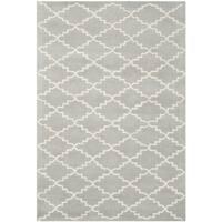 Safavieh Handmade Moroccan Grey Indoor Wool Rug - 3' x 5'