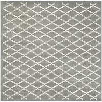 Safavieh Handmade Moroccan Chatham Dark Grey Wool Rug - 7' Square