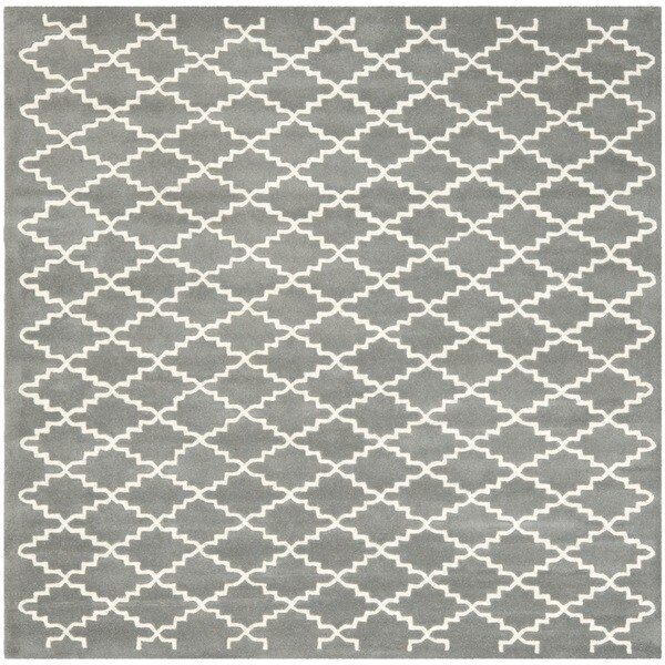 Square Pattern Rug Home Decor