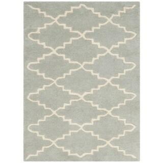 Safavieh Geometric Handmade Moroccan Grey Wool Rug (2' x 3')