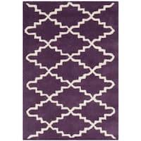 Safavieh Handmade Moroccan Chatham Purple Wool Rug - 2' X 3'