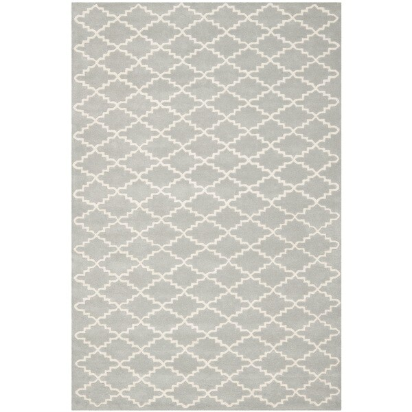 Safavieh Handmade Moroccan Chatham Grey Wool Rug with Durable Backing - 8' x 10'