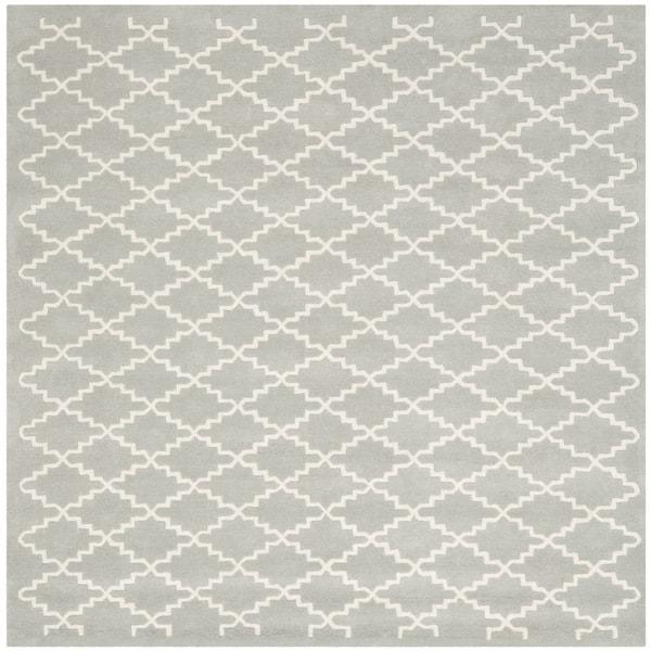 Safavieh Handmade Moroccan Grey Indoor Wool Rug (7' Square)