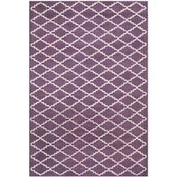 Safavieh Contemporary Handmade Moroccan Purple Wool Rug - 6' x 9'