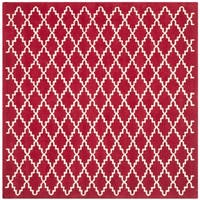 Safavieh Handmade Moroccan Red Wool Area Rug - 7' Square