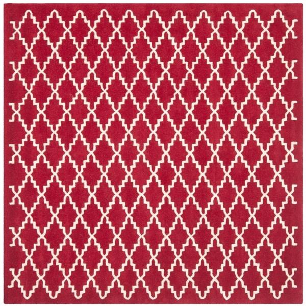Safavieh Handmade Moroccan Red Wool Area Rug (7' Square)