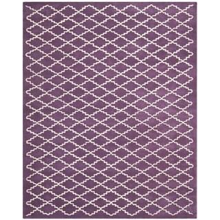 Safavieh Contemporary Handmade Moroccan Purple Wool Rug (8' x 10')