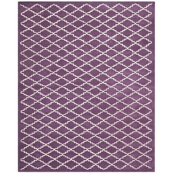Safavieh Contemporary Handmade Moroccan Purple Wool Rug - 8' x 10'