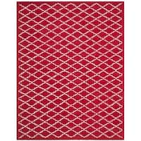 Safavieh Handmade Moroccan Red Wool Rug with Cotton Canvas Backing - 8' x 10'