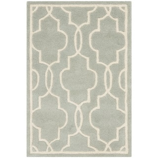 Safavieh Durable Handmade Moroccan Grey Wool Rug (2' x 3')