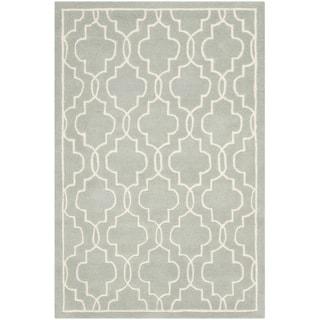 Safavieh Handmade Moroccan Chatham Grey Wool Rug (4' x 6')
