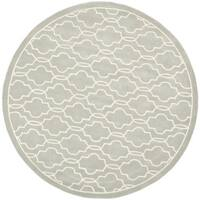 Safavieh Handmade Moroccan Chatham Contemporary Grey Wool Rug - 5' x 5' round