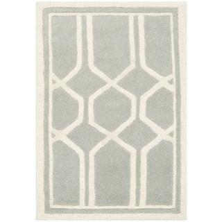 Safavieh Handmade Moroccan Grey Wool Area Rug (2' x 3')