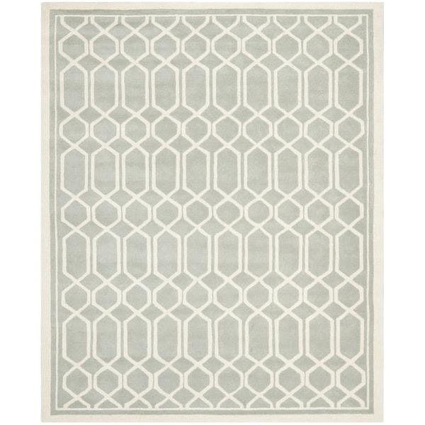 Safavieh Contemporary Handmade Moroccan Chatham Grey Wool Rug (8' x 10')