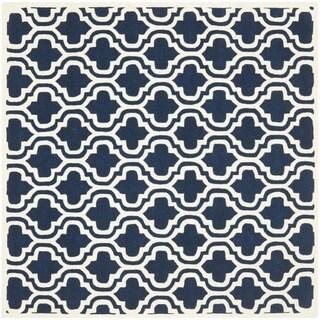 Safavieh Handmade Moroccan Chatham Dark Blue Wool Rug (7' Square)