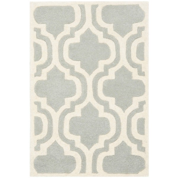Safavieh Handmade Moroccan Chatham Grey Wool Rug (2' x 3')