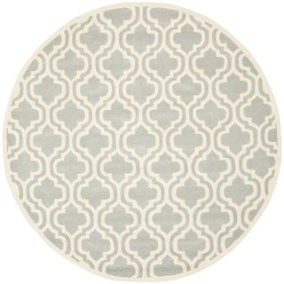 Safavieh Handmade Moroccan Chatham Grey Wool Rug (5' Round)
