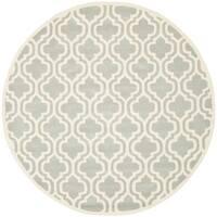 Safavieh Handmade Moroccan Chatham Grey Wool Rug - 5' x 5' round