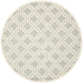 Safavieh Handmade Moroccan Chatham Grey Wool Rug (7' Round)