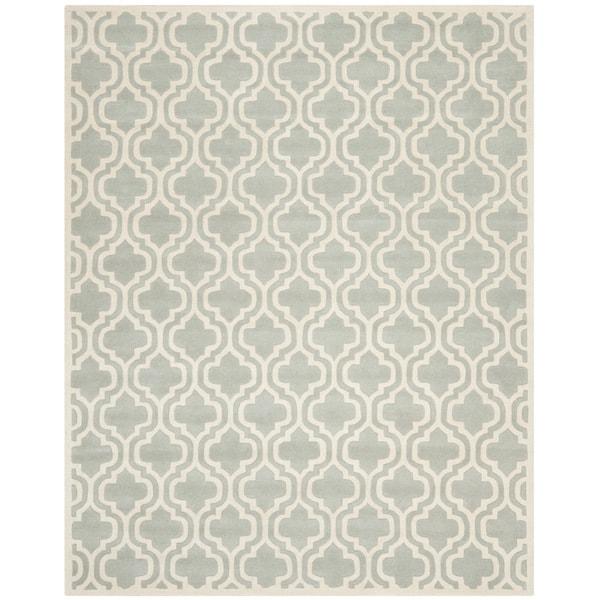 Safavieh Handmade Moroccan Chatham Gray Pure Wool Rug (8' x 10')
