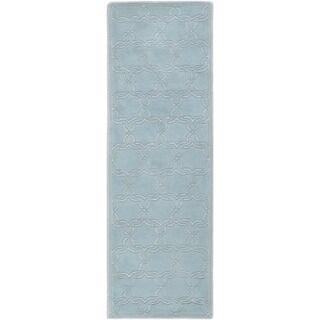 "Safavieh Handmade Moroccan Chatham Grey Lattice-Patterned Wool Rug (2' 3"" x 9')"