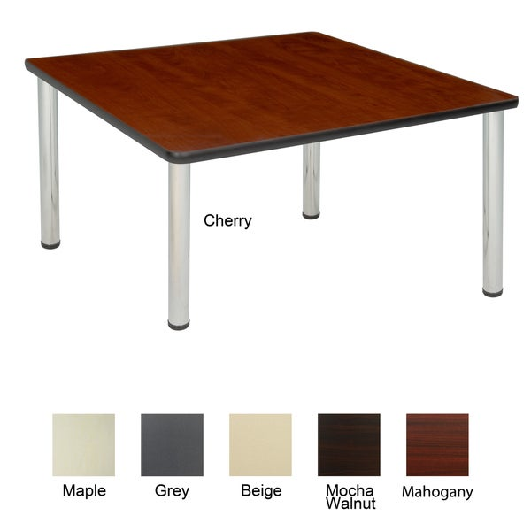 Regency Seating 48-inch Square Table with Chrome Post Legs