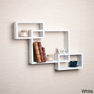 Laminate Intersecting Wall Shelf