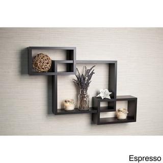 Laminate Intersecting Rectangles Wall Shelf