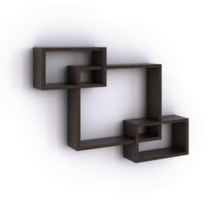 Laminate Intersecting Rectangles Wall Shelf