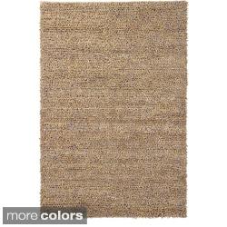 Artist's Loom Hand-woven Wool Shag Rug (3'x5')