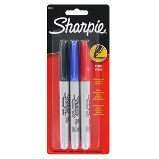 Sharpie Fine Point Permanent Markers (Set of 3)