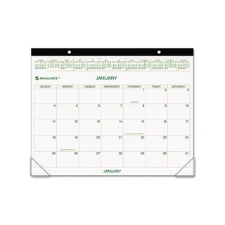 2015 Recycled Two Color Desk Pad Calendar 22 X 17 Free