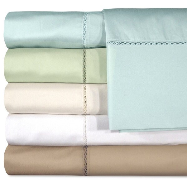 Grand Luxe Bellisimo Egyptian Cotton Sateen Deep Pocket 500 Thread Count Sheet Set