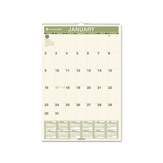 2015 Recycled Monthly Wall Calendar (15 1/2 x 22 3/4)