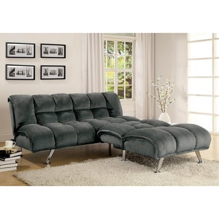 Medium image of furniture of america grey contemporary 2 piece futon set  sale